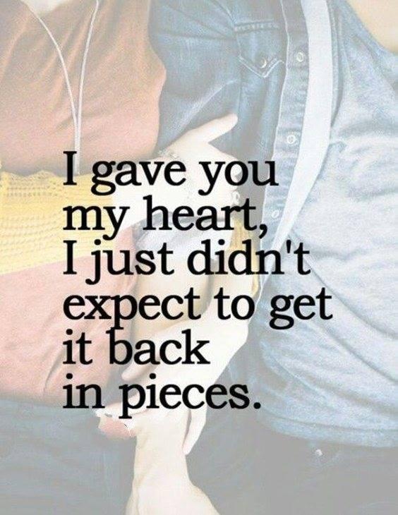 112 sad broken heart quotes about being broken And Heartbroken Sayings 20