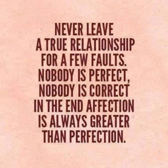 Relationship Quotes on true love perfection