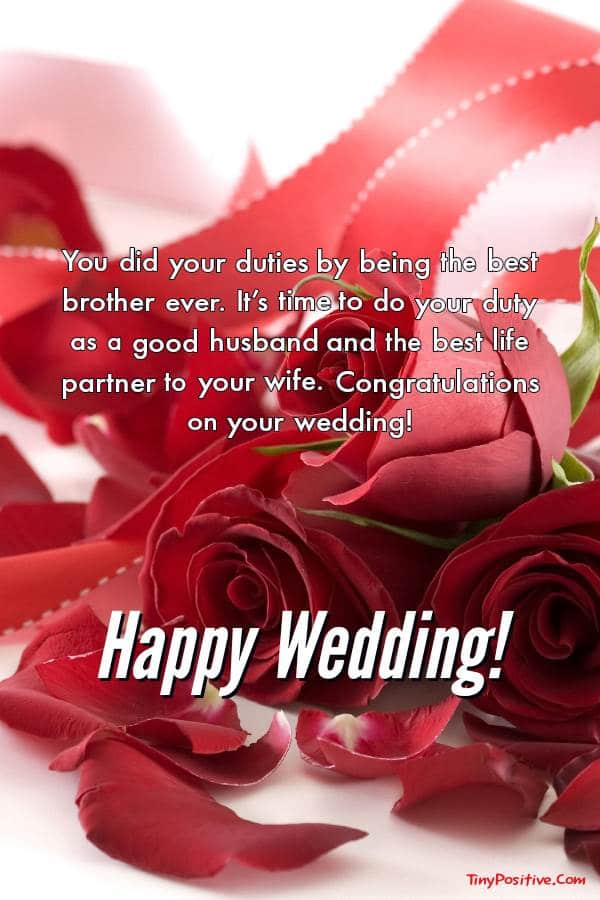 Wedding Wishes for Brother - Congratulations Messages