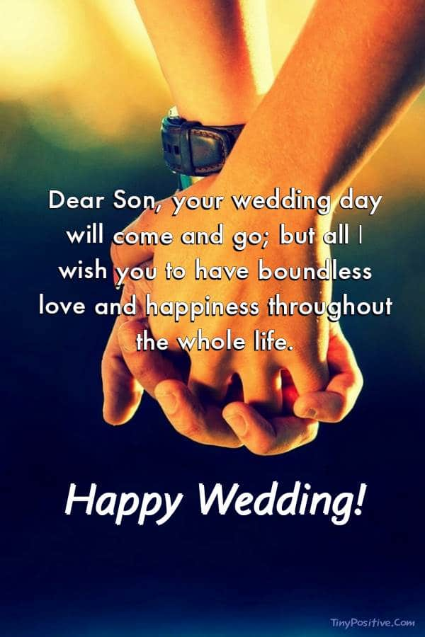 Wedding Wishes for Son - Cards Wishes
