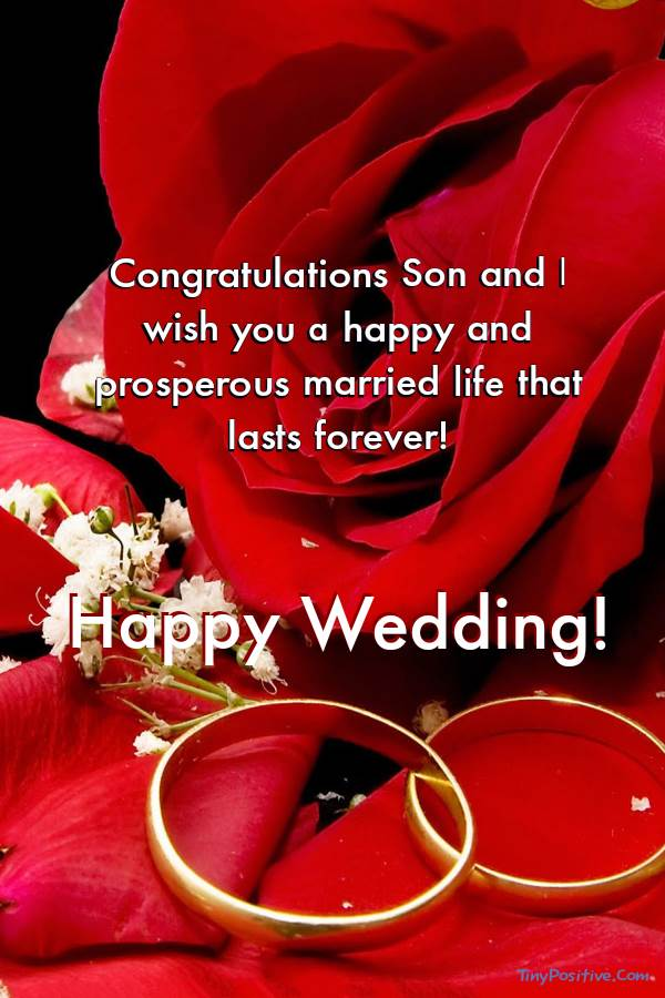 Wedding Congratulations Cards for Son from Greeting Card