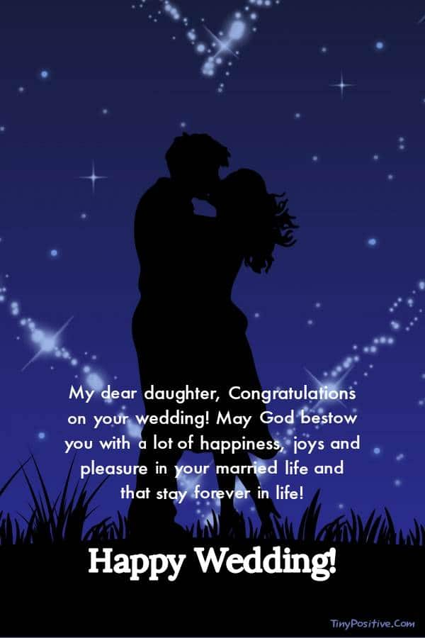 Beautiful Wedding Wishes for Daughter - Occasions Messages