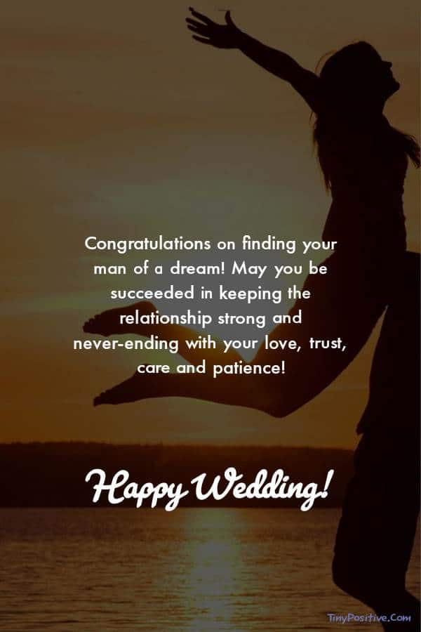 special words to my daughter on her wedding day