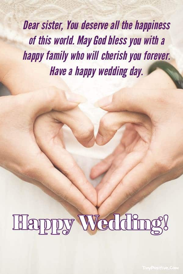 Exceptional Wedding Wishes For Sister - Wedding Congratulation Messages