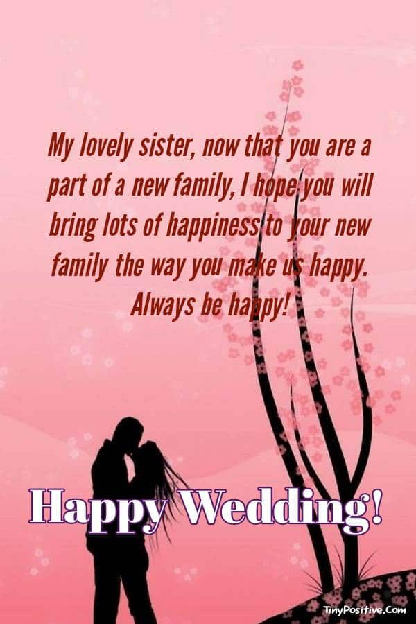Beautiful Wedding Messages For Sister