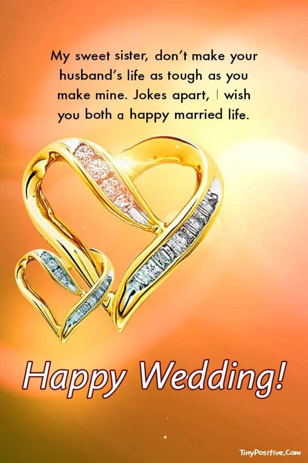 Sister Marriage Quotes | Sweet Wedding Wishes for Sister - Occasions Messages
