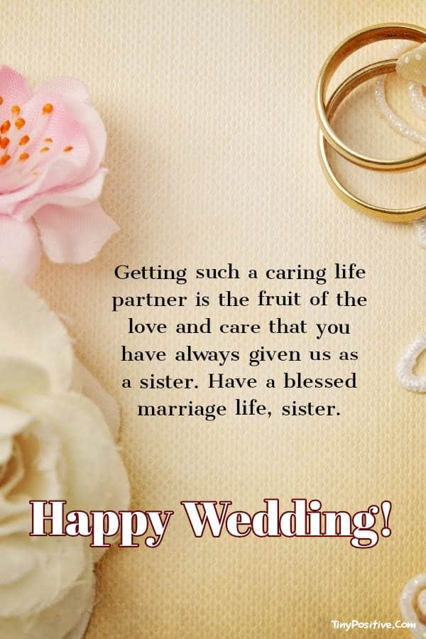 Wedding Wishes For Sister (With Images) |  wedding Wishes for Sister ~ Congratulations Sister!