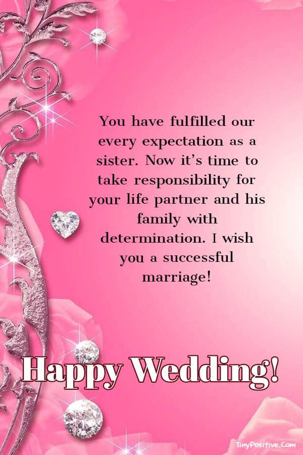 Funny Wedding Messages for Sister