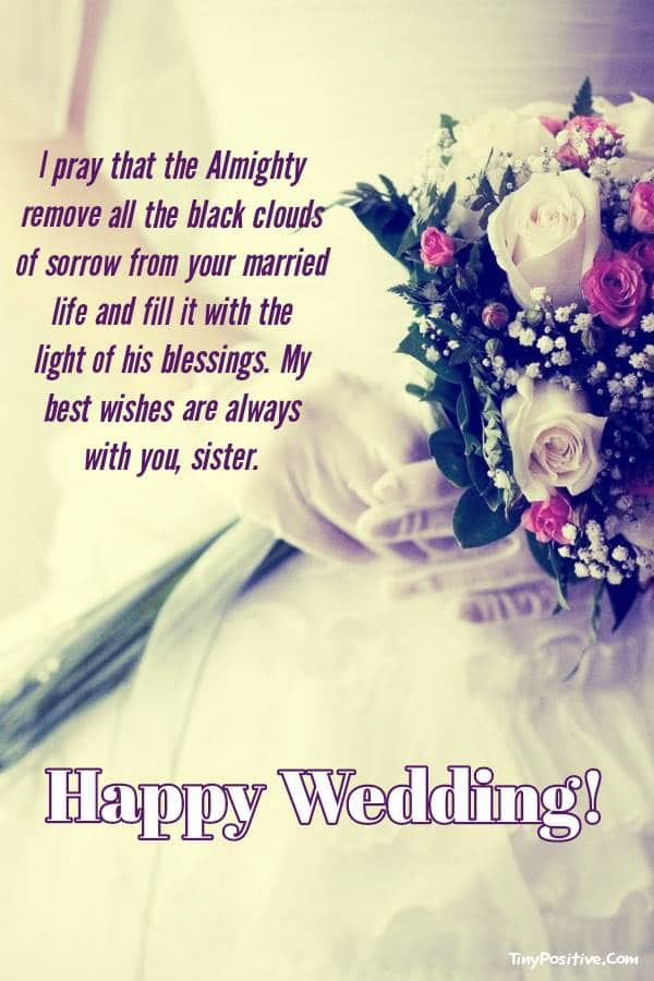 Beautiful Marriage Wishes For Sister
