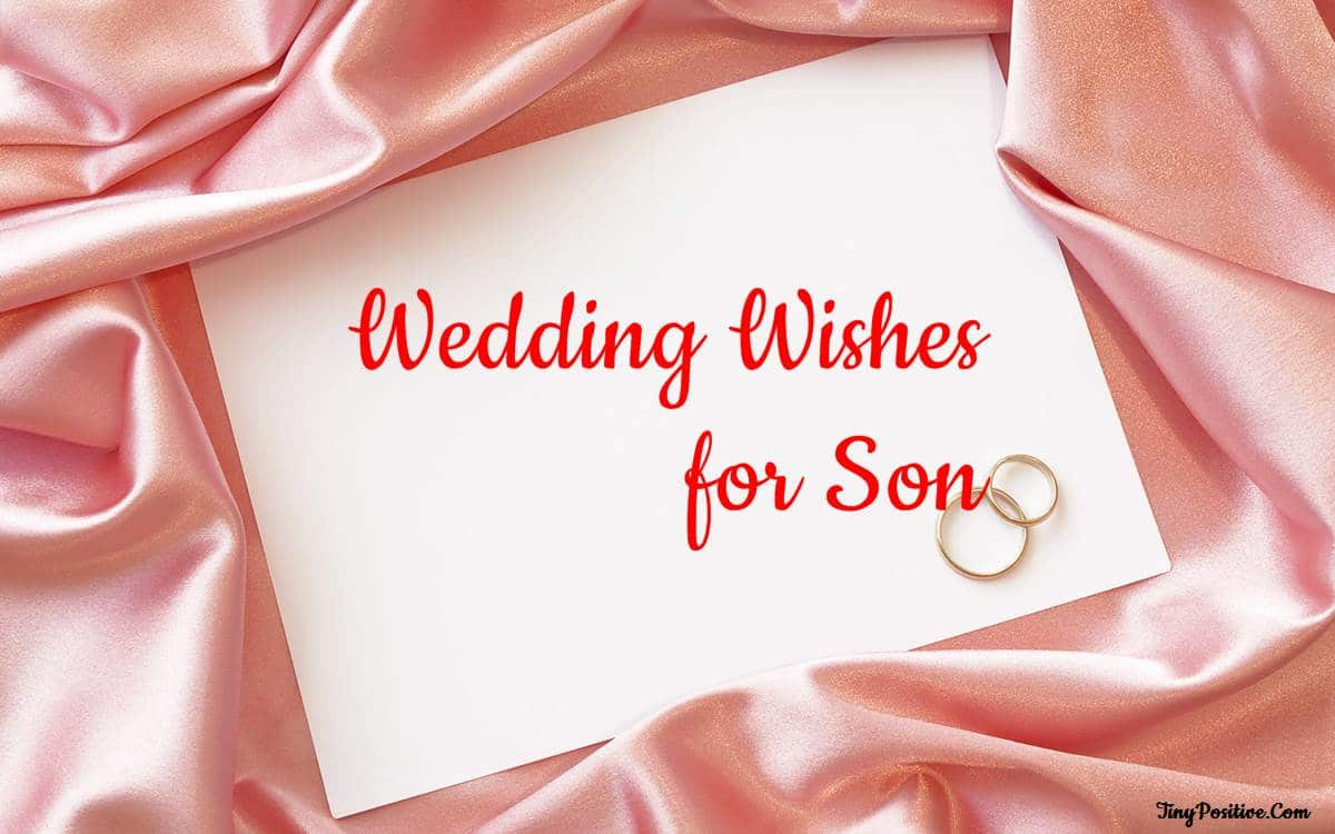 wedding wishes for son messages quotes