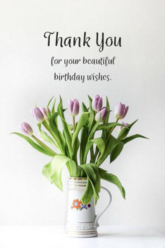 Thank You To Birthday Wishes