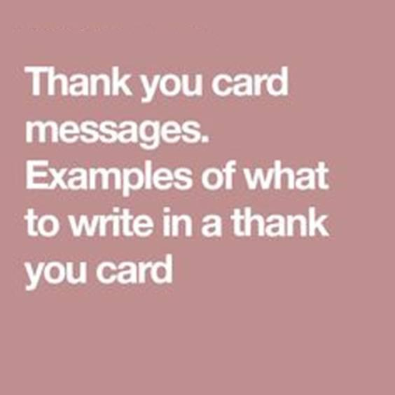 Thanking Message