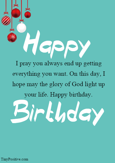 Religious Birthday Wishes for Him - Inspirational Religious Birthday Wishes Quotes and Messages