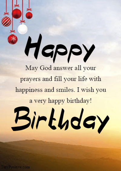 Spiritual Birthday Wishes - Inspirational Religious Birthday Wishes Quotes and Messages