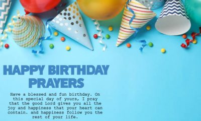 Happy Birthday Prayers with Wishes Greetings Picture