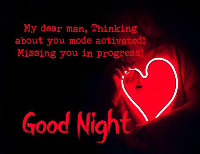 funny good night messages for him