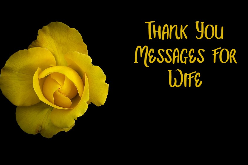 Thank You Messages for Wife Best Quotes About Appreciation